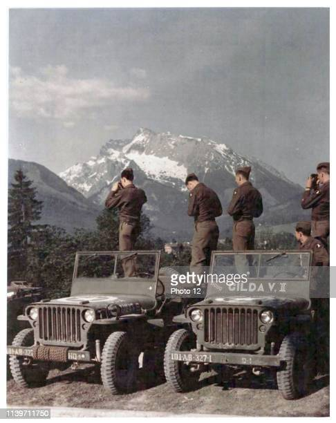 101st Airborne Division, Infantry in the Bavarian Alps near Berchtesgaden 1945.