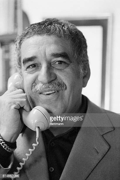 Mexico City Gabriel Garcia Marquez Columbian author who has been living in selfexile in Mexico since last year talks to journalist from Italy early...