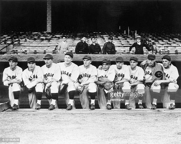 This is how the Chicago Cubs will look tomorrow when they meet the Detroit Tigers in the opening game of the World Series Pictured are Augie Galan...