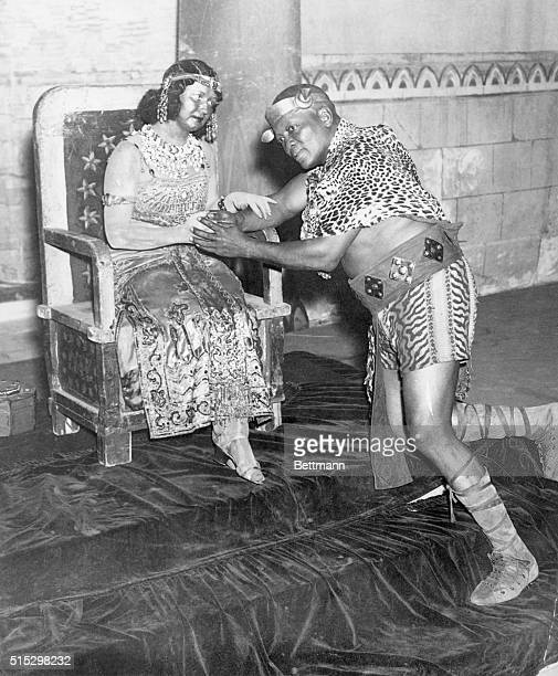 10/2/1936New York NY Heavyweight boxing champion Jack Johnson in a scene from the opera 'Aida' at the Hippodrome Theatre in New York Composer...