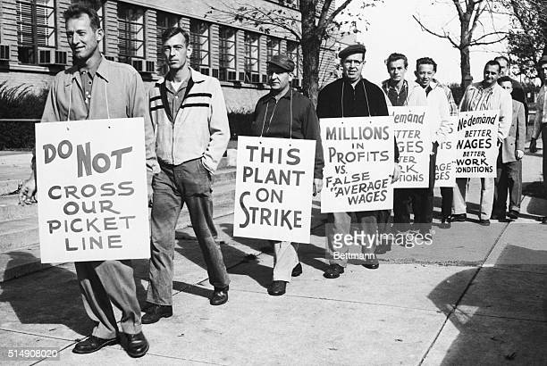10/2/1958Baltimore MDPickets parade in front of the Chevrolet plant here Oct 2 Three thousand employees at two General Motors plants here went on...