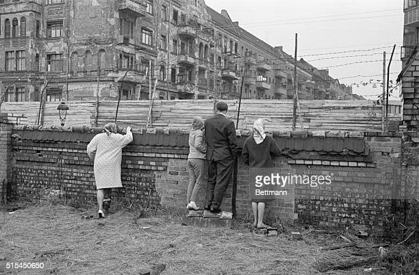 10/2/1961Berlin Germany This general view of the Communistconstructed 'death strip' in the Schoenholz area of Berlin shows the extent of Communist...