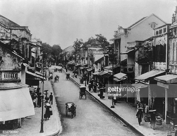 Hanoi, Vietnam: NEW SPOTLIGHTED.... Main Street of Hanoi French Indo-China.