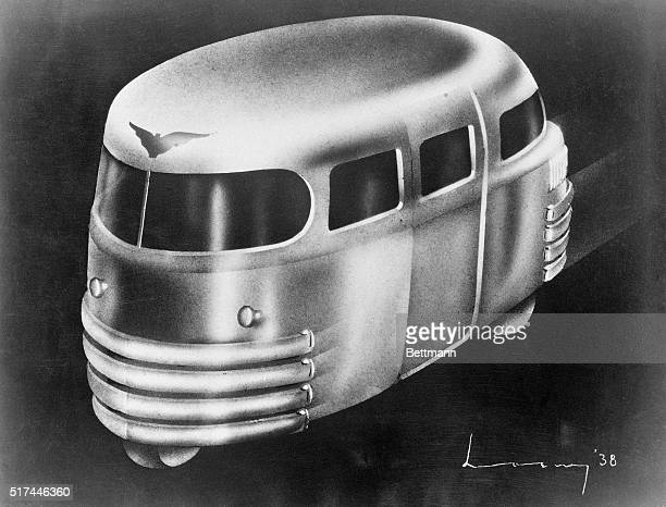 New York NY This design for a modern metropolitan taxicab was recently presented by industrial designer Raymond Loewy at a recent meeting at the NYU...