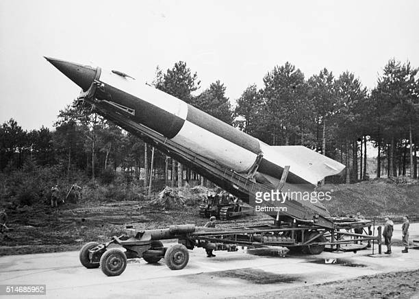 Cuxhaven Germany British scientific experts are now experimenting with the V2 rocket at Cuxhaven in an effort to find out exactly how it works Here...