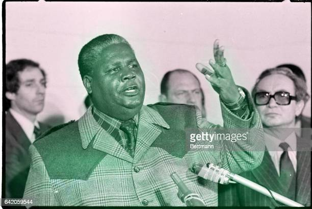 Geneva Switzerland Joshua Nkomo who claims leadership of the Zimbabwe African People's Union is one of the black leaders who have been attending the...