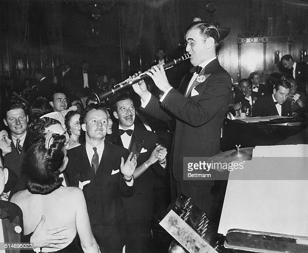 New York, NY: Benny Goodman at the Empire Room in the Waldorf-Astoria.