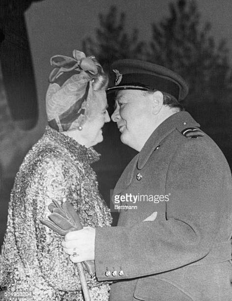 London England When Prime Minister Winston Churchill returned home after his recent conference with Marshall Josef Stalin in Moscow Mrs Churchill was...