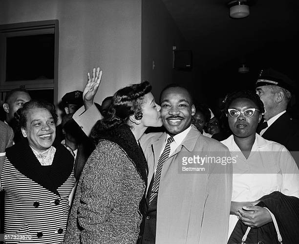 10/3/1958New York NY Martin Luther King Leaving Harlem Hospital with his Wife Coretta