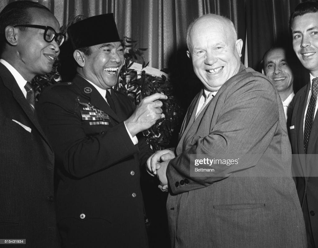 Khrushchev and sukarno greeting pictures getty images khrushchev and sukarno greeting m4hsunfo