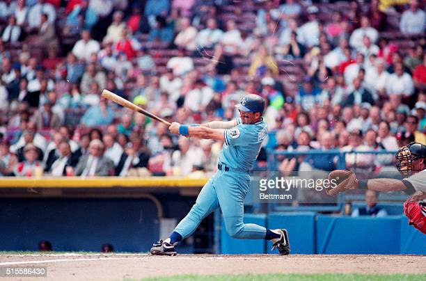 10/3/1990Cleveland OH Kansas City Royals George Brett singled in the seventh inning today and raised his average to 329 Brett will become the first...