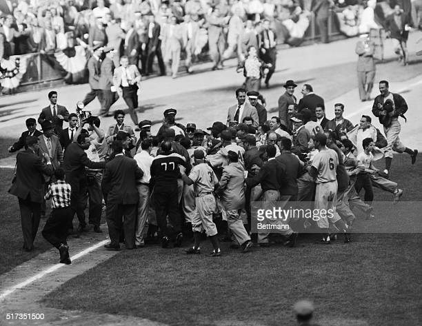 10/4/1955New York NY AND THEN THERE WAS PANDEMONIUM Johnny Podres 23yearold lefthander who won his second and the Dodgers' final World Series victory...