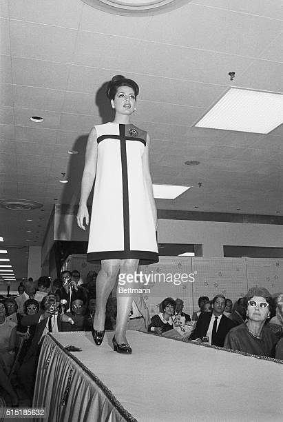 10/4/1965New York NY During a week of huate couture presentations in New York's department stores Princess Ira Furstenburg participated in a benefit...