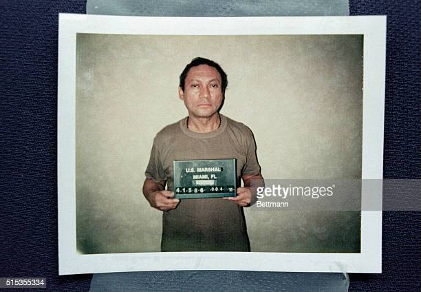 1/04/1990Miami FL Ousted Panamanian dictator Manuel Noriega is shown in this Justice Department mug shot released by the US Attorney's office in...