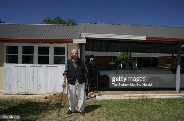 104yearold Mudgee resident Jim Byrnes who recently handed in his driving licence for safety reasons New South Wales 13 October 2006 SMH Picture by...