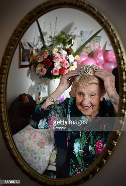 106yearold Marjorie Hemmerde poses with her 73yearold boyfriend Gavin Crawford at Kew Gardens Aged Care Facility on May 7 2013 in Melbourne Australia...