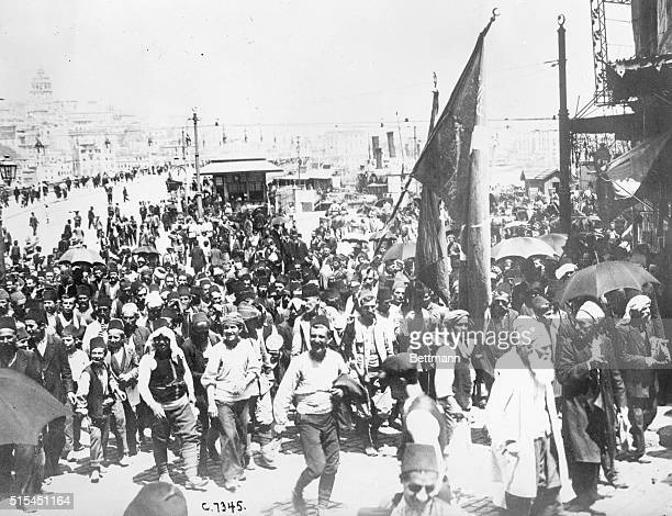 10/7/1914Photo shows mobilization of Turkish troops in Constantinople