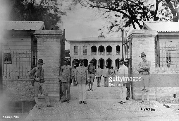 10/7/1915Port Au Prince Haiti American occupation of Haiti Gates of Presidential palace where President Villbrum Guilluiame Sam was cut to pieces...