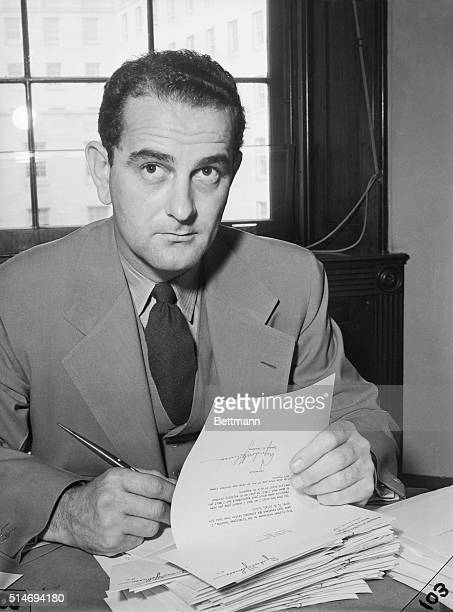 10/7/1940WashingtonDC Rep Lyndon Johnson of Texas is a leading candidate for the post of Secretary of the Democratic National Committee to succeed LW...
