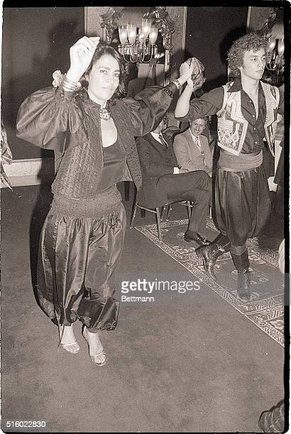 10/7/1980New York New York There's some Greek dancing for Irene Papas at a party celebrating her opening in New York October 2 as star in a...