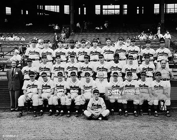 10/9/1948ClevelandOHORIGINAL CAPTION READSAmerican League contenders for World Series champs for 1948 are the Cleveland IndiansFront rowlrEd...