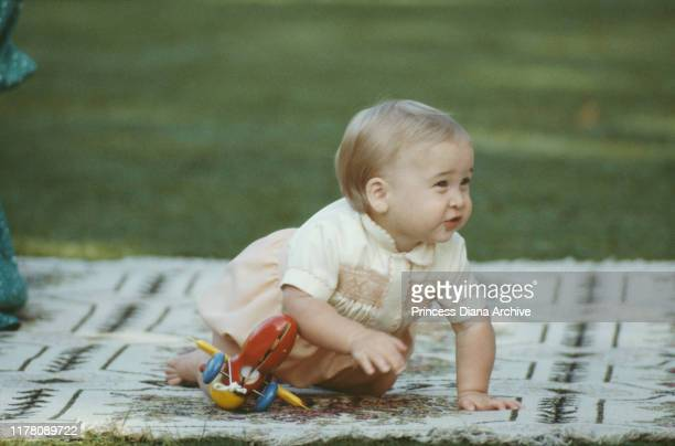 10monthold Prince William on the lawn of Government House in Auckland New Zealand 23rd April 1983
