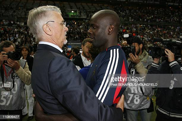 10Th Anniversary Of France S World Cup Victory Football Exhibition Match At The Stade De France In Paris France On July 12 2008 Aime Jacquet Lilian...
