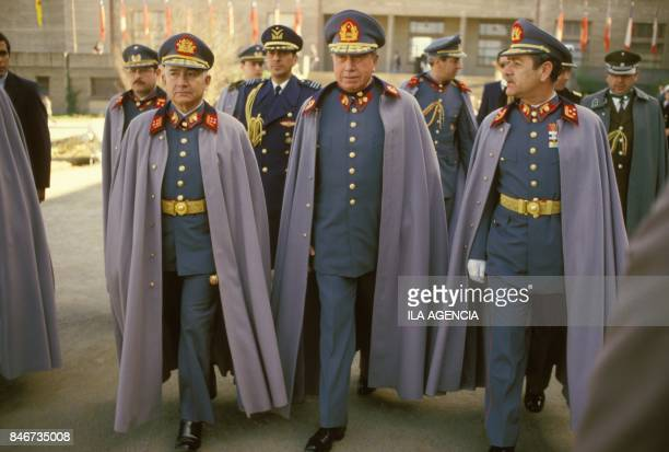 10th anniversary of General Augusto Pinochet's 1973 coup in Chile on September 11, 1983 in Santiago, Chile.