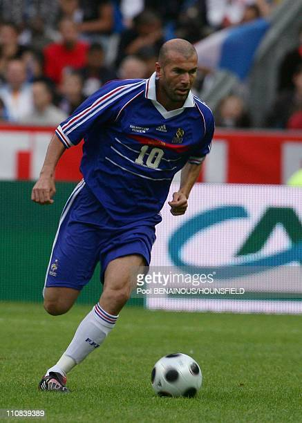 10Th Anniversary Of The French World Champion Of Football Tittle In The Stade Of France In Paris France On July 12 2008 Zinedine Zidane