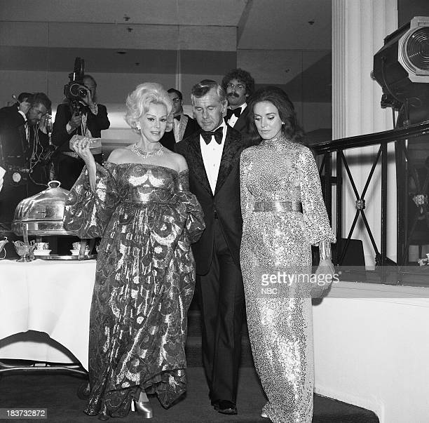 CARSON 10th Anniversary Party Pictured Actress Zsa Zsa Gabor Johnny Carson wife Joanna Holland Carson during the 'Tonight Show Starring Johnny Carson...