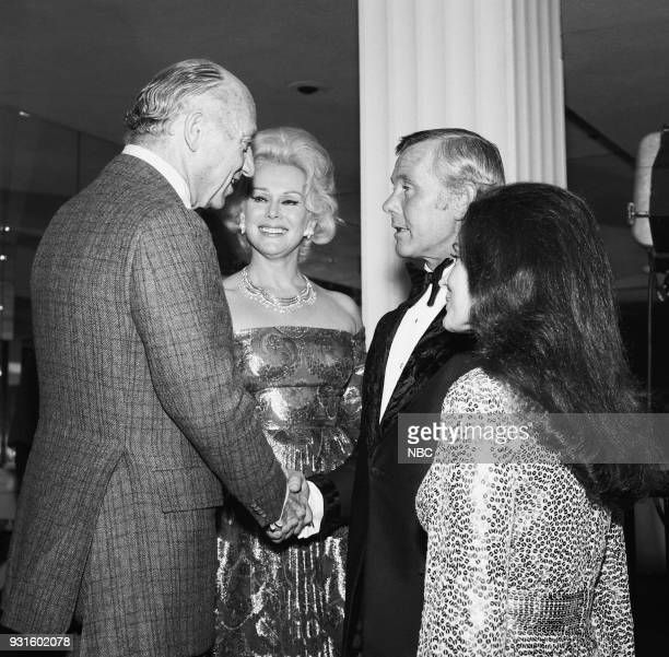 CARSON 10th Anniversary Party Pictured Guest actress Zsa Zsa Gabor during the 'Tonight Show Starring Johnny Carson 10th Anniversary party on...