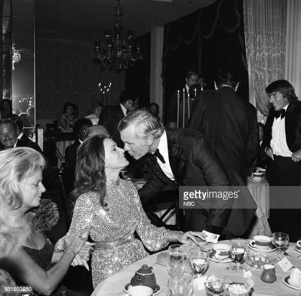 CARSON 10th Anniversary Party Pictured Janet de Cordova Joanna Holland Johnny Carson during the 'Tonight Show Starring Johnny Carson' 10th...