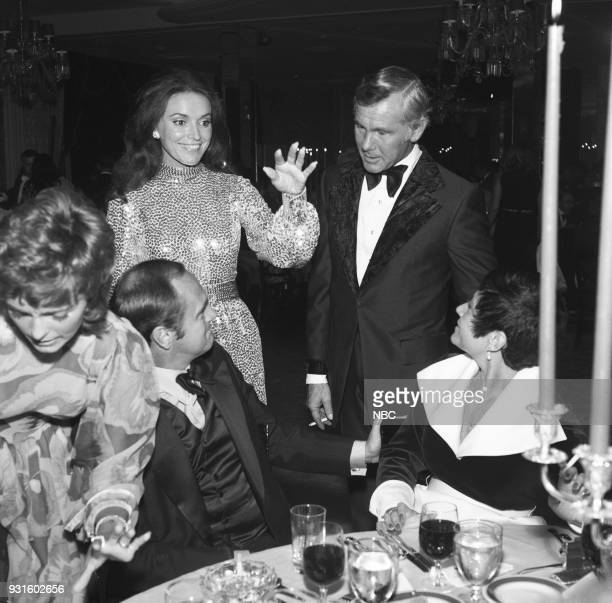 CARSON 10th Anniversary Party Pictured Joanna Holland Johnny Carson Comedian Don Rickles and wife Barbara Rickles during the 'Tonight Show Starring...