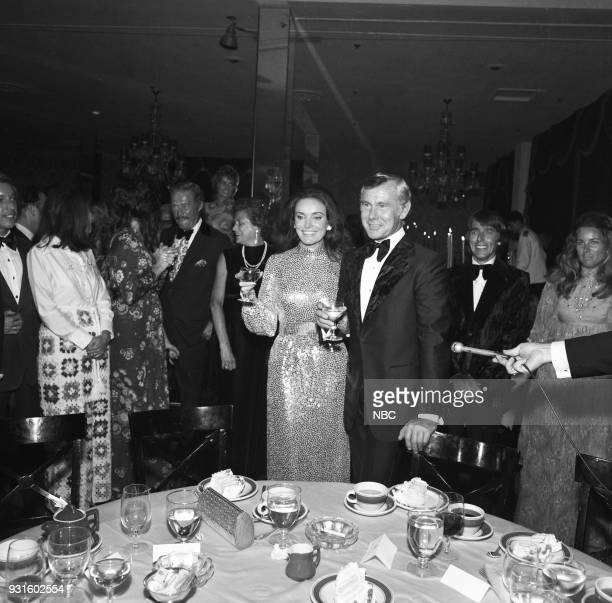 CARSON 10th Anniversary Party Pictured Joanna Holland Johnny Carson Dan Rowan director Bobby Quinn and wife Tangley Lloyd during the 'Tonight Show...
