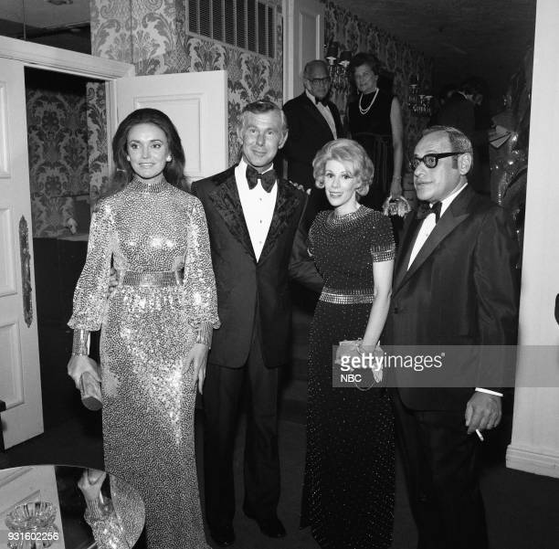 CARSON 10th Anniversary Party Pictured Joanna Holland Johnny Carson Joan Rivers Edgar Rosenberg during the 'Tonight Show Starring Johnny Carson' 10th...