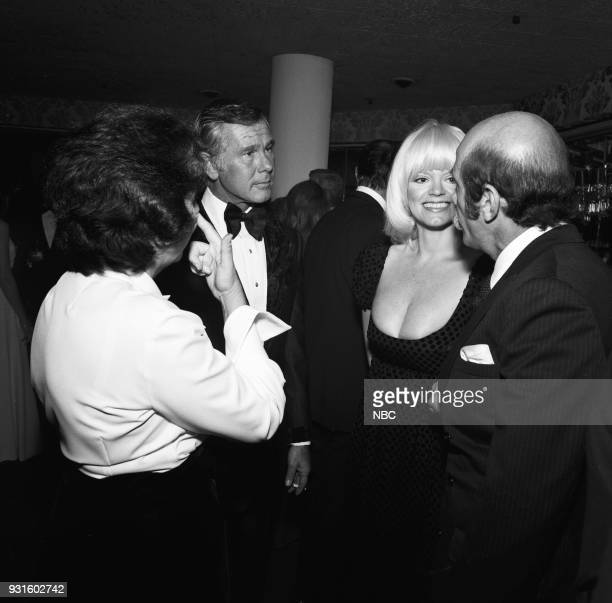 CARSON 10th Anniversary Party Pictured Johnny Carson The Tonight Show's Carol Wayne husband photographer Barry Feinstein during the 'Tonight Show...