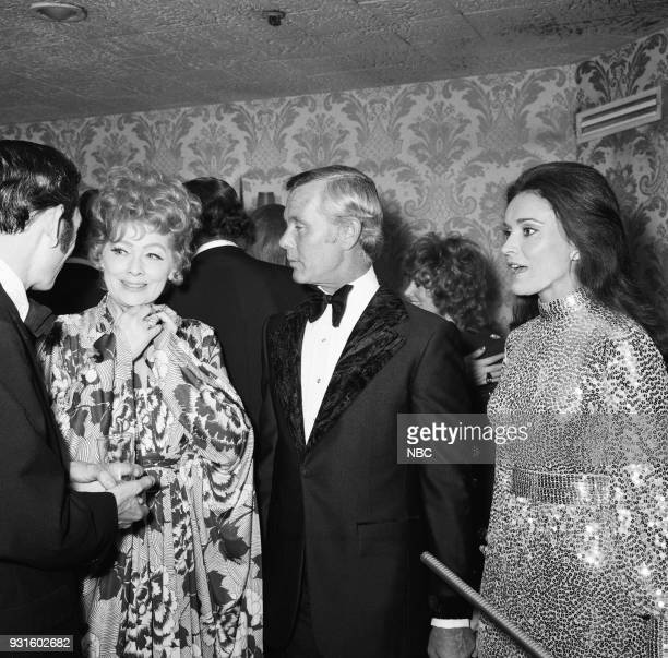 CARSON 10th Anniversary Party Pictured Lucille Ball Johnny Carson Joanna Holland during the 'Tonight Show Starring Johnny Carson' 10th Anniversary...