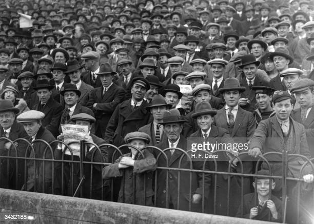 A section of the crowd at Stamford Bridge for the football match between Chelsea and Sheffield Wednesday