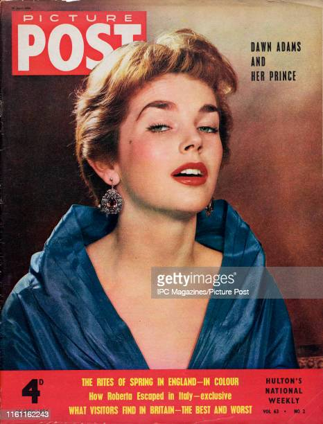 English actress Dawn Addams is featured for the cover of Picture Post magazine Original Publication Picture Post Cover Vol 63 No 02 pub 1954