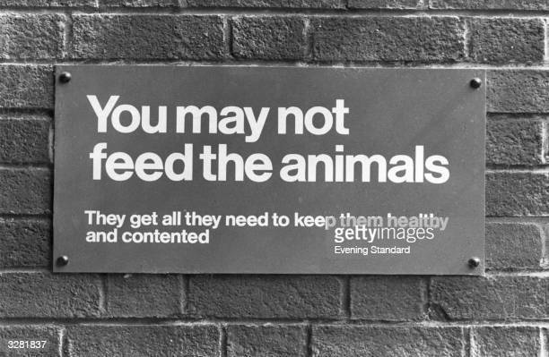 A sign at London Zoo