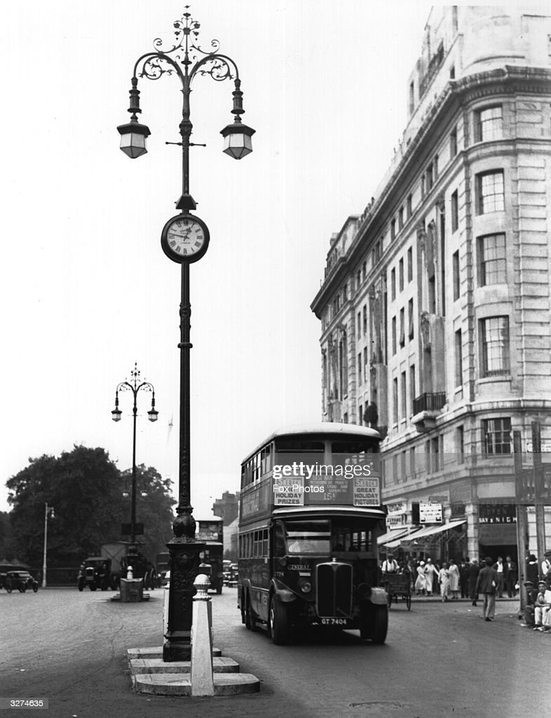 The Marble Arch Clock Is Restored To Its Former Place On The Lamp Standard  In The