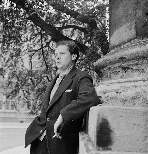 Welsh poet and playwright Dylan Thomas . Original Publication:...