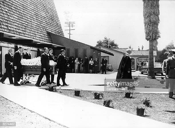 The funeral of American film star Marilyn Monroe