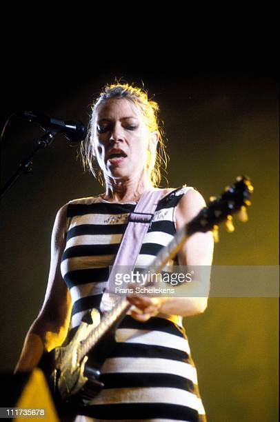 singer Kim Gordon from Sonic Youth performs live on stage at Lowlands festival in Biddinghuizen Netherlands on 10th August 1996