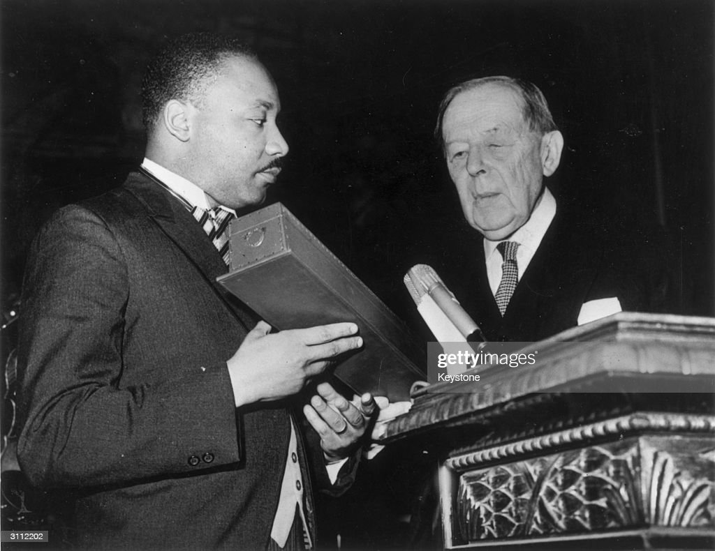 Martin Luther King Receives Nobel Peace Prize : News Photo