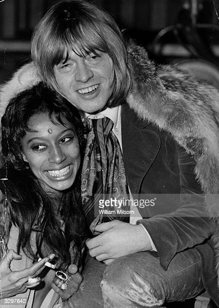 Brian Jones guitarist with rock group the Rolling Stones and friend actress and model Donyale Luna