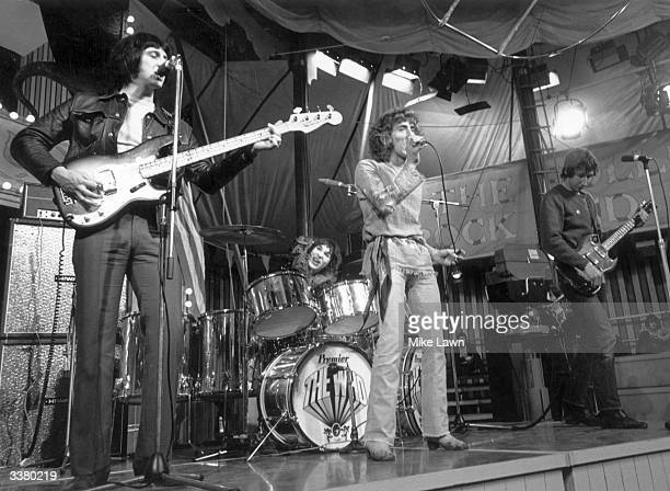 British rock group The Who performing at the Rolling Stones' 'Rock And Roll Circus' event a performance at Internel Studios in Stonebridge Park...