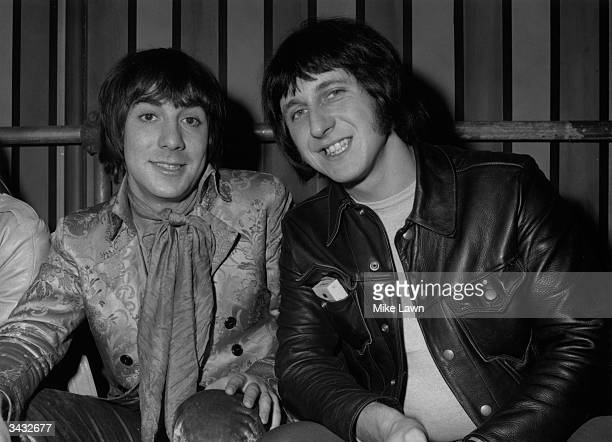 Keith Moon and John Entwistle of 'The Who' at Internel Studios in Stonebridge Park Wembley where the Rolling Stones are shooting a TV spectacular...