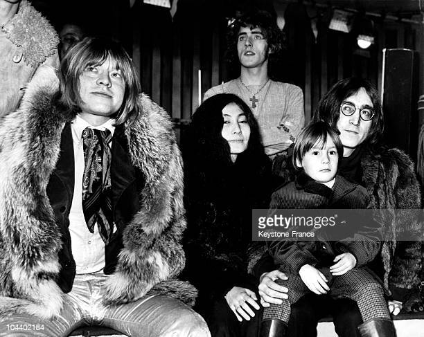 KINGDOM 10th December 1968 on the recording of the program TV ROLLING STONES ROCK'N ROLL CIRCUS SHOW in Intertel studios Wembley from left to right...