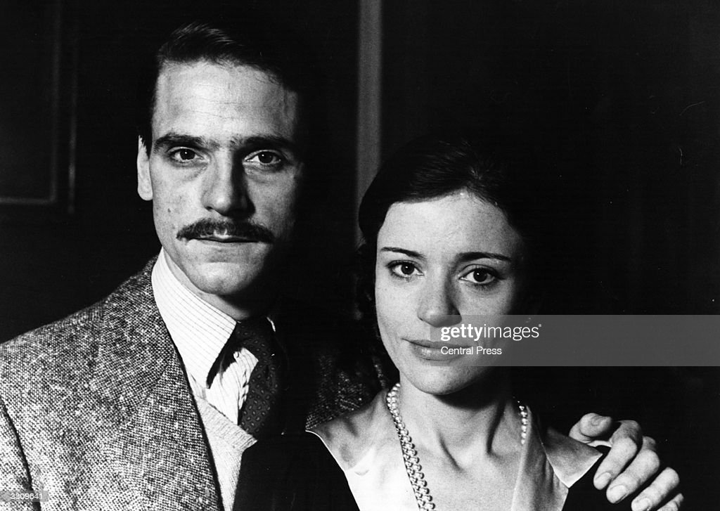 Actor Jeremy Irons with actress Diana Quick.